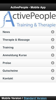 Neue Iphone und Mobile Version der ActivePeople Webseite